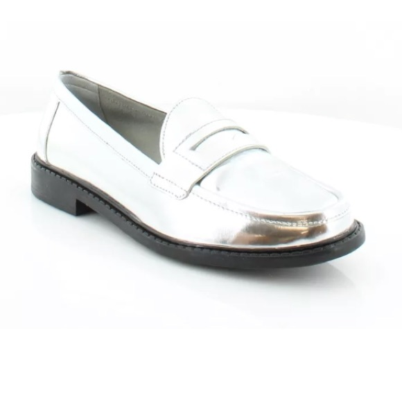 ee8f8616ff3 Cole Haan Shoes - Cole Haan Silver Pinch Campus Metallic Loafers